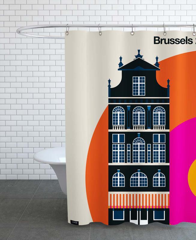 Monuments et vues, Brussels 27 rideau de douche
