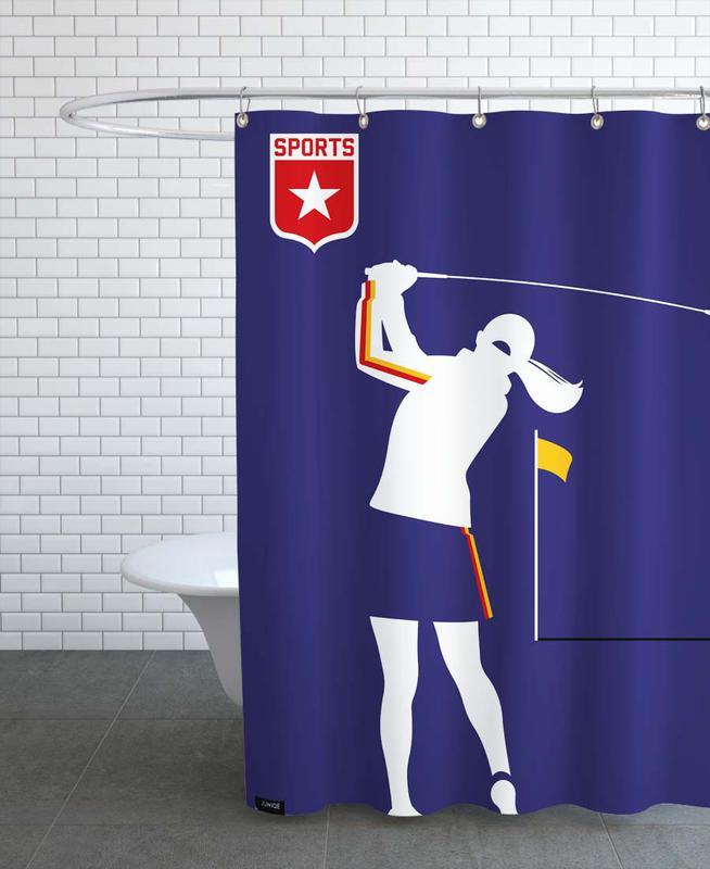 Golf, Golfer 2 Shower Curtain