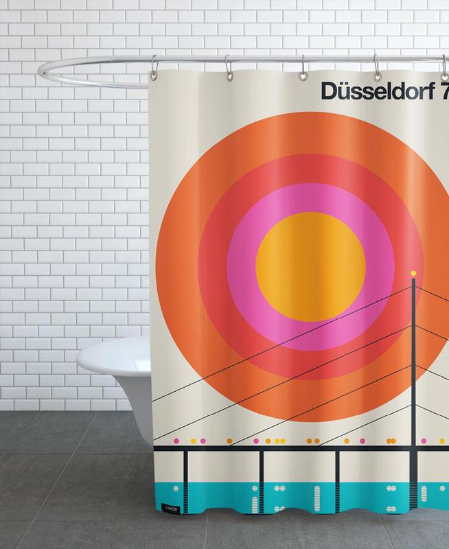 Düsseldorf 76 Shower Curtain
