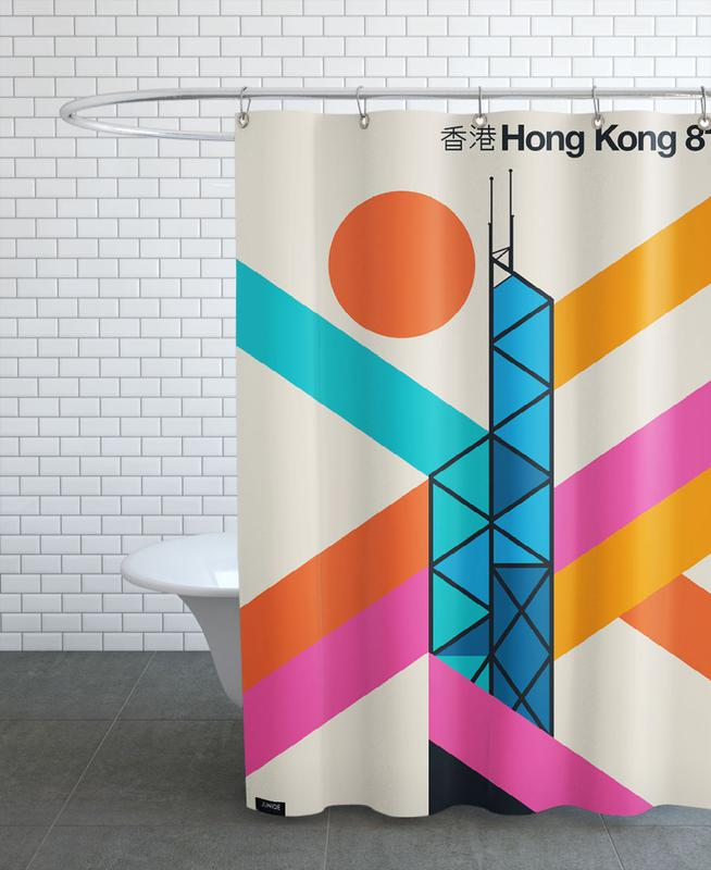 Hong Kong 81 Shower Curtain