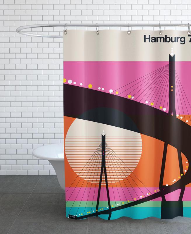 Hamburg, Retro, Hamburg 74 Shower Curtain