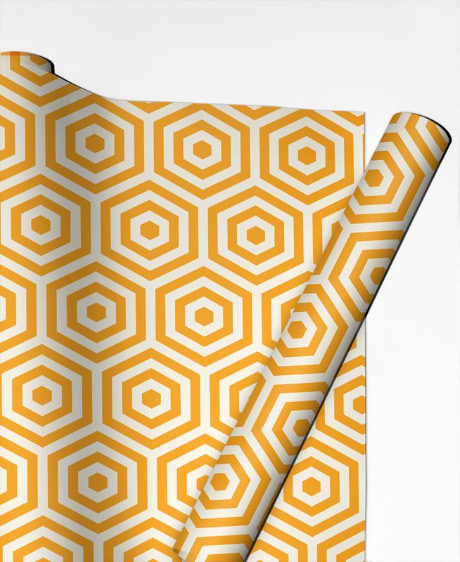Yellow Beehive Gift Wrap