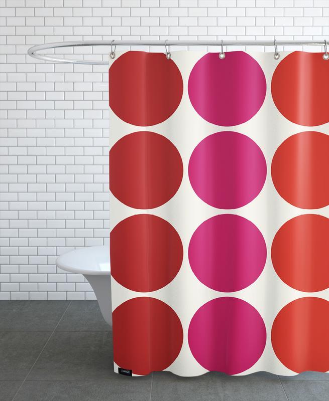 Patterns, Magenta Ludo Shower Curtain