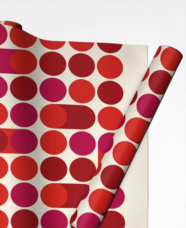 Red Bleep Gift Wrap