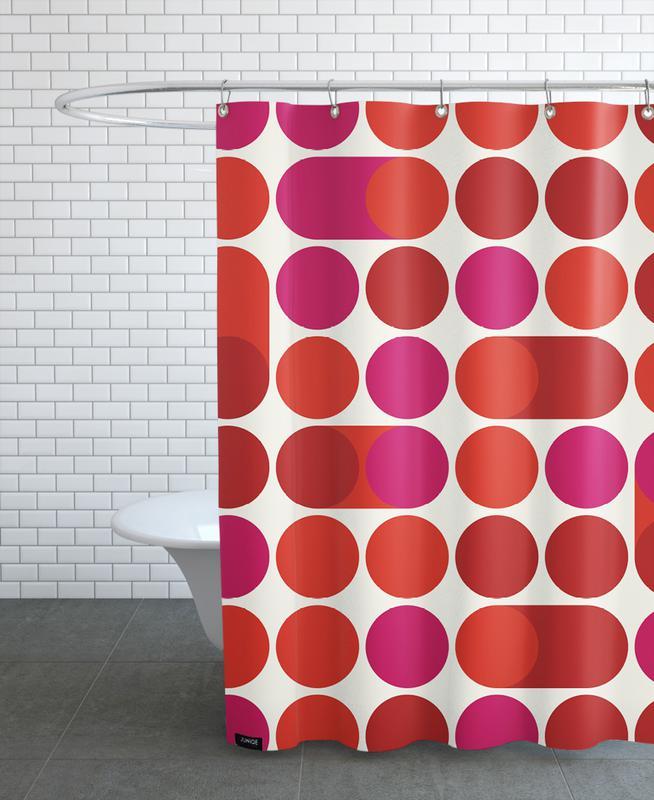 Red Bleep Shower Curtain