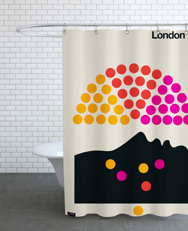 London 72 Shower Curtain