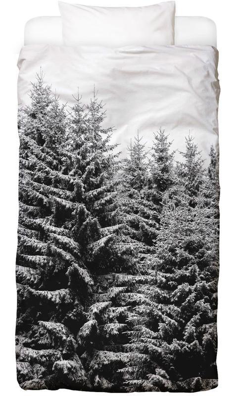 Snowy Christmas Trees Bettwäsche