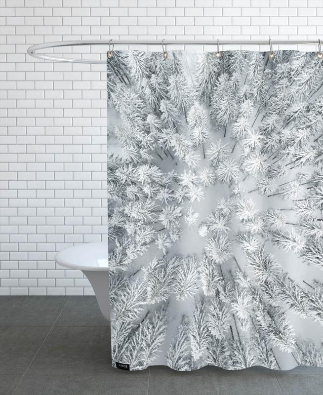 Snowy Forests Shower Curtain