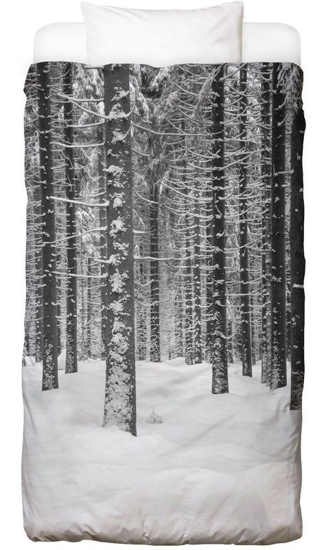 Deep Dark White Forest Linge de lit