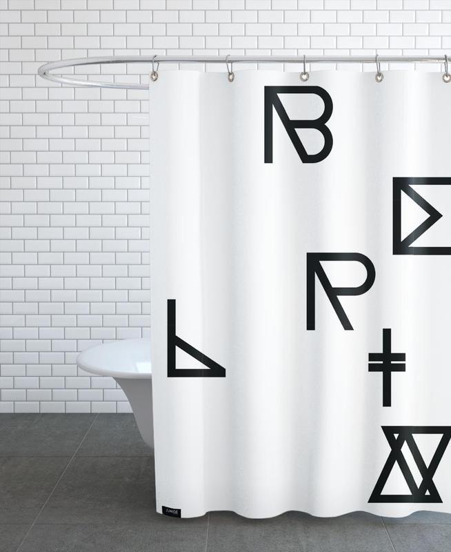 Symbols, Berlin Shower Curtain