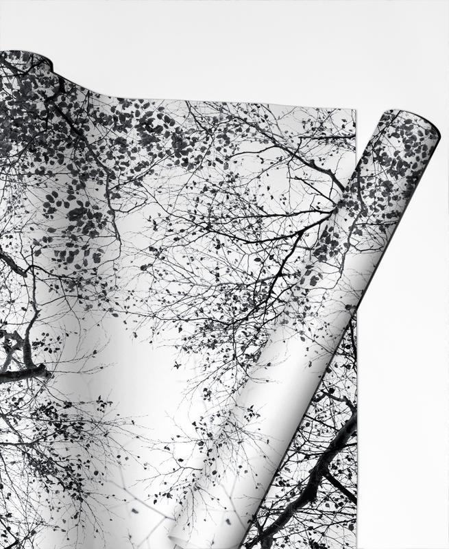 Schwarz & Weiß, Bäume, Reaching Into The Sky -Geschenkpapier