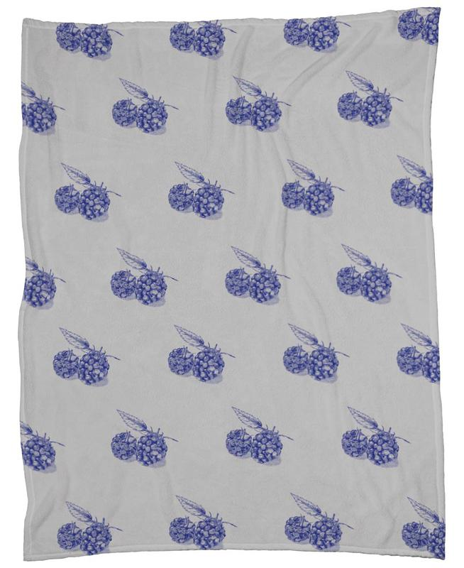 Blackberries Fleece Blanket