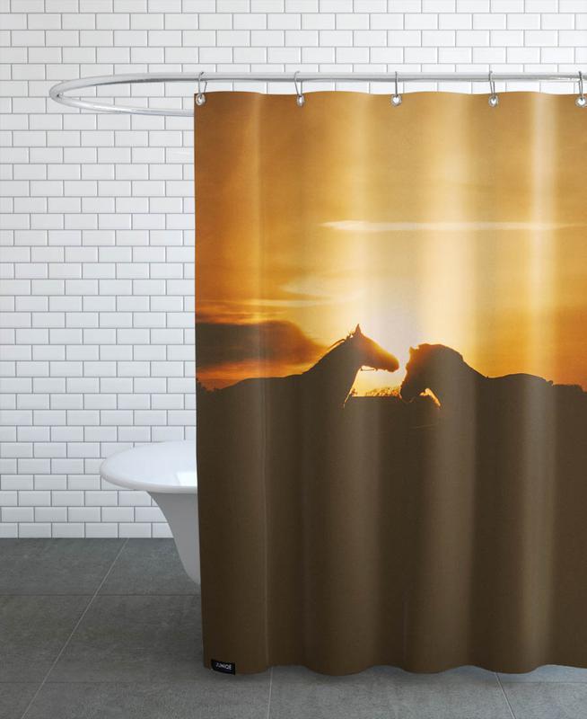 Couchers de soleil, Chevaux, The Horses rideau de douche