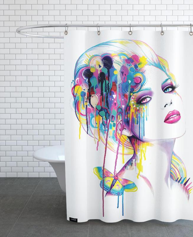 Color Portrait Shower Curtain