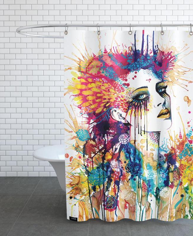 Flora rideau de douche