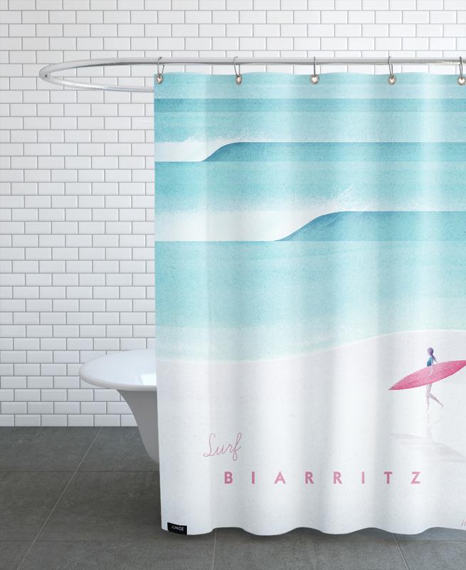Reise, Vintage Reise, Biarritz -Duschvorhang