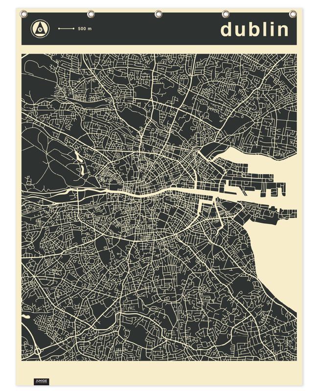 Stadskaarten, Dublin, City Maps Series 3 Series 3 - Dublin douchegordijn