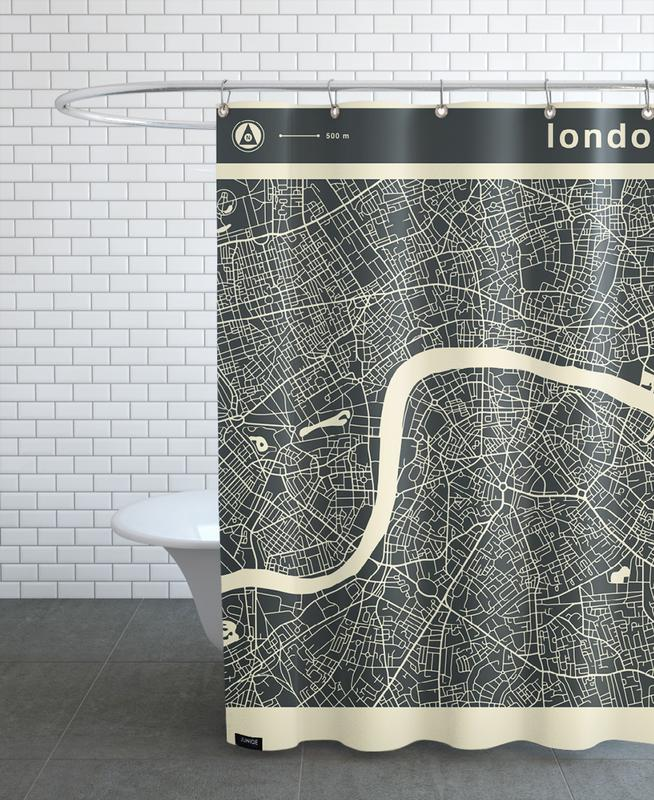 City Maps Series 3 Series 3 - London -Duschvorhang