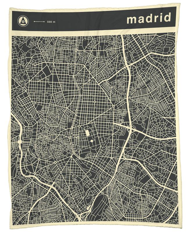 City Maps Series 3 - Madrid -Fleecedecke