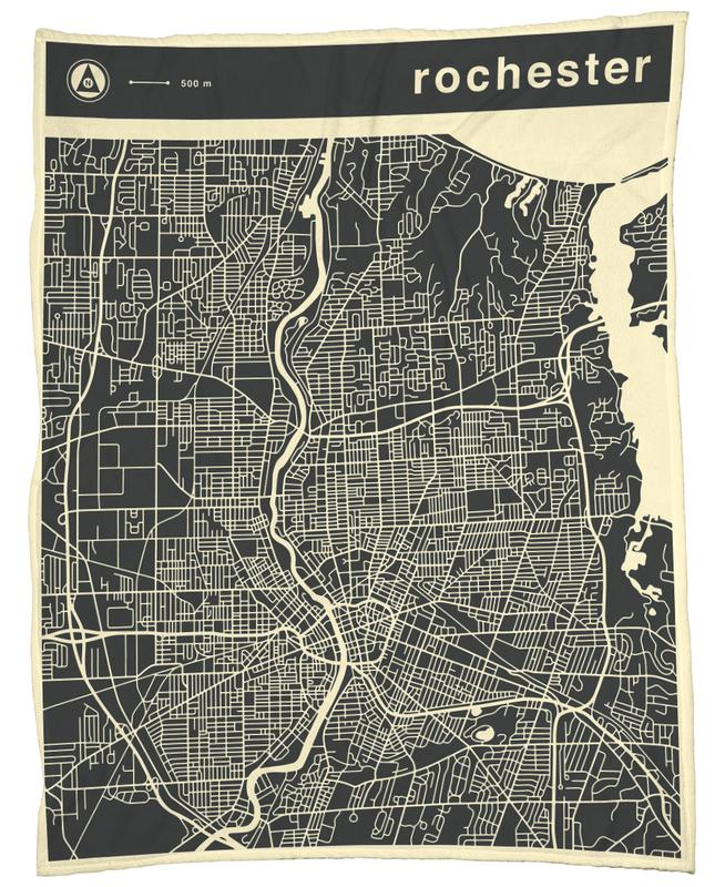 City Maps Series 3 - Rochester -Fleecedecke