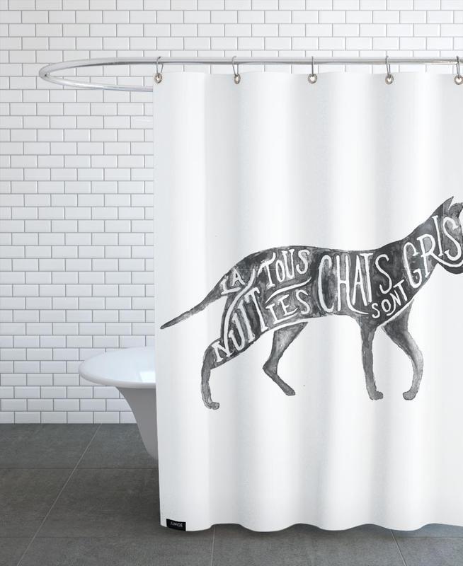 Les chats sont gris Shower Curtain