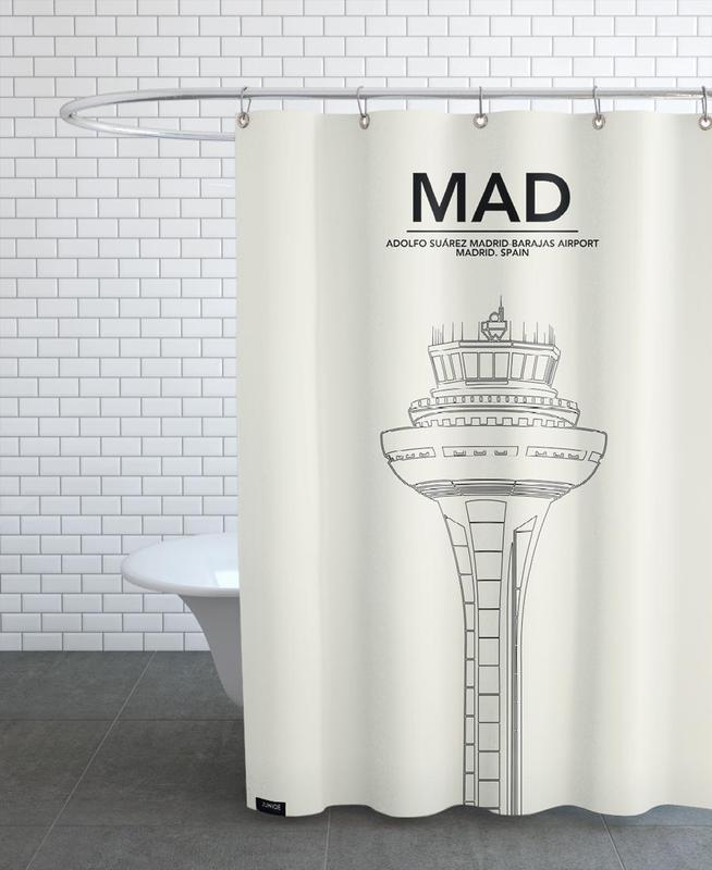 Madrid, MAD Madrid Tower Shower Curtain