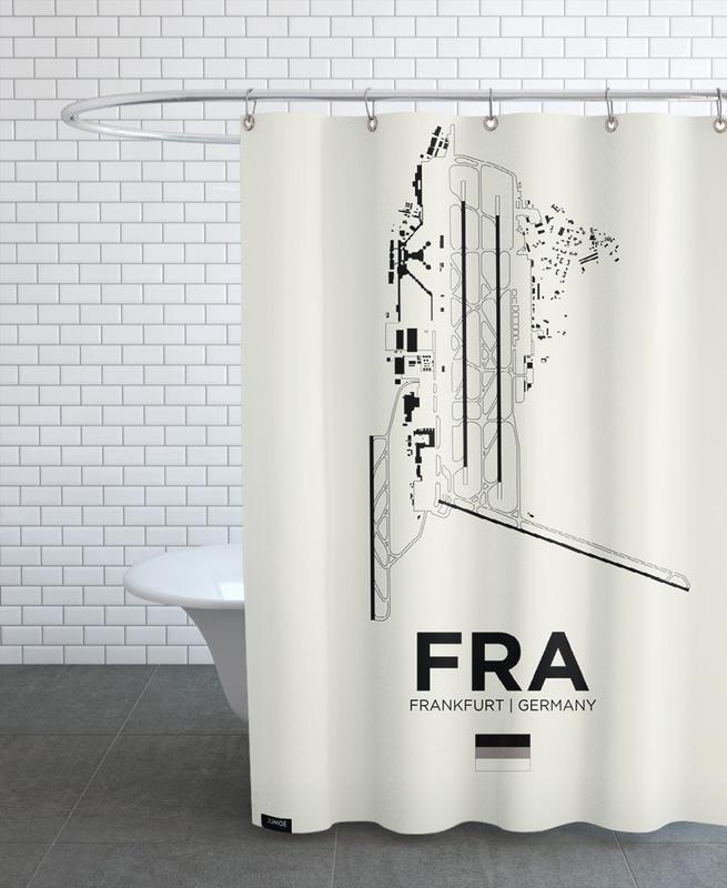 Frankfurt, FRA Airport Frankfurt Shower Curtain