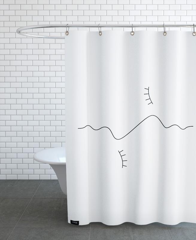 Black & White, Couples, Amplitude Shower Curtain