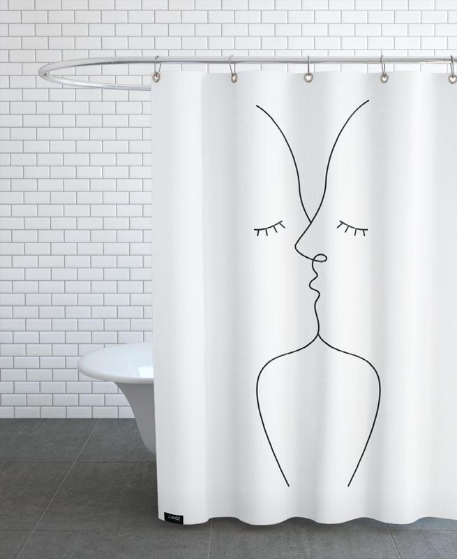 Schwarz & Weiß, Kiss -Duschvorhang