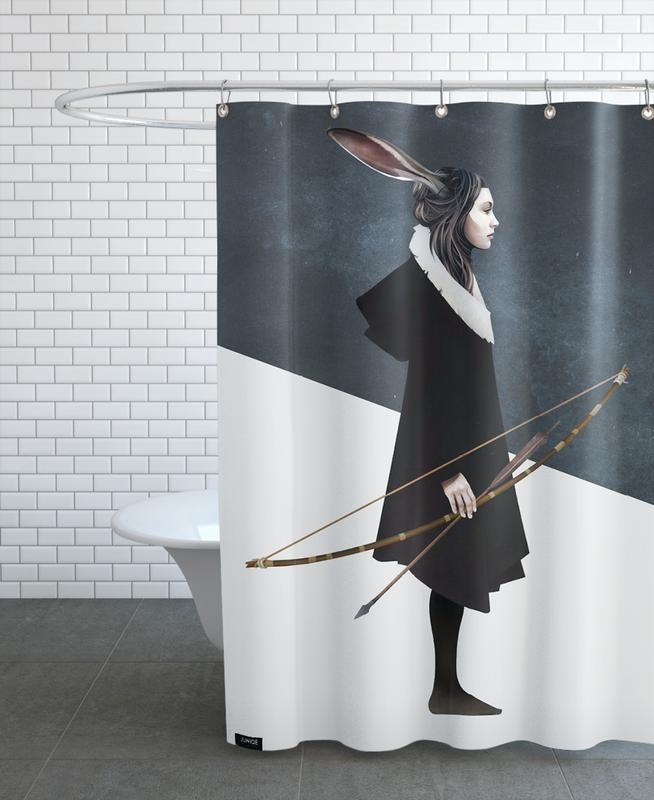 Dreamy, Portraits, The Hunt Shower Curtain