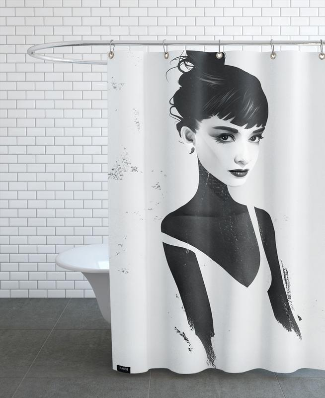 Oh, Audrey Shower Curtain