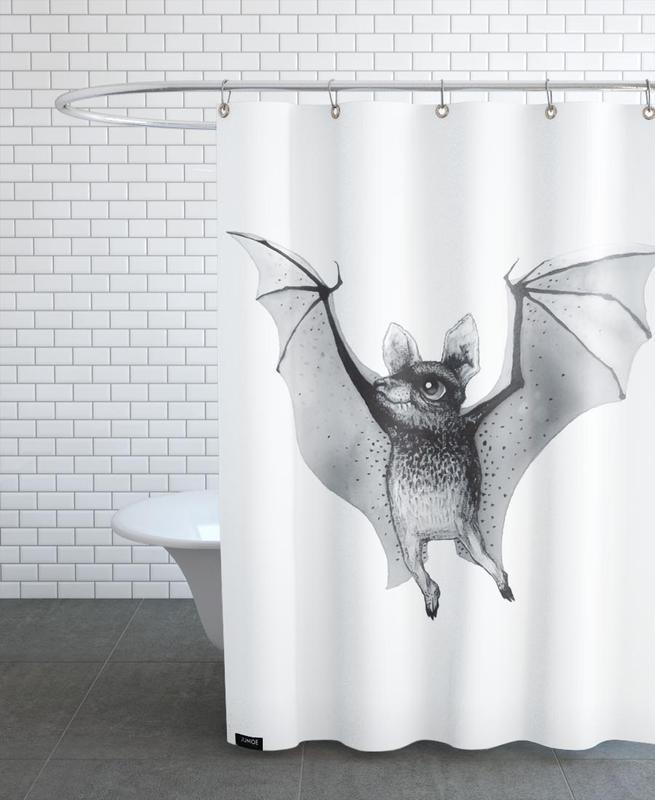 Noir & blanc, Art pour enfants, Bat rideau de douche