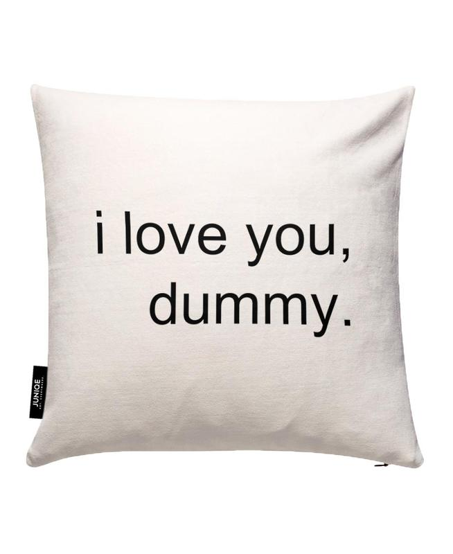I Love You Dummy Cushion Cover