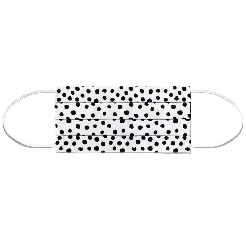 Dots Black And White Face Mask