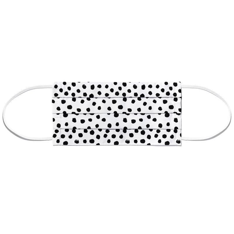 Dots Black And White Masque barrière en tissu