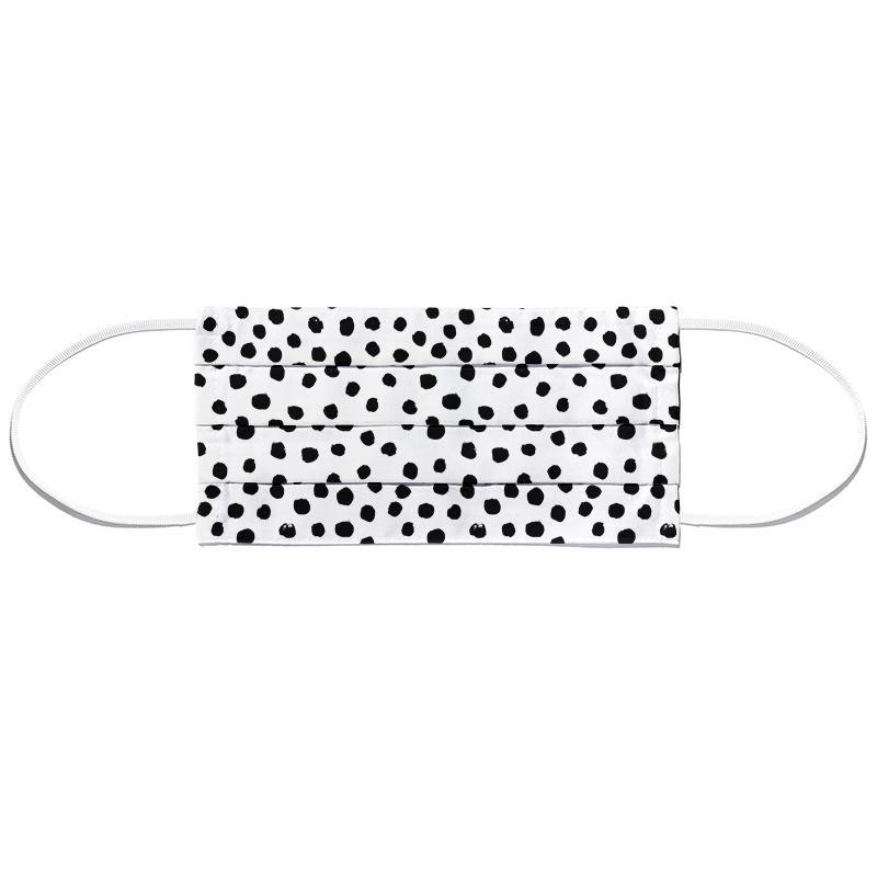 Dots Black And White Mund- und Nasenmaske