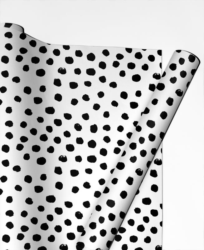 Dots Black And White Gift Wrap