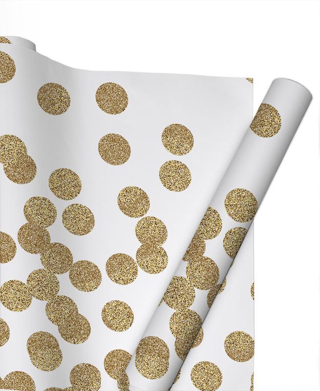 Glückwünsche, Gold Glitter -Geschenkpapier