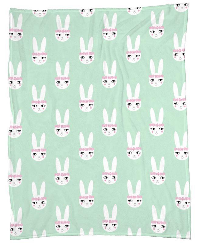 Easter Bunny Mint -Fleecedecke