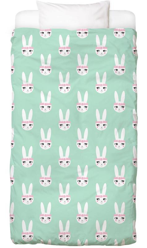 Easter Bunny Mint -Kinderbettwäsche