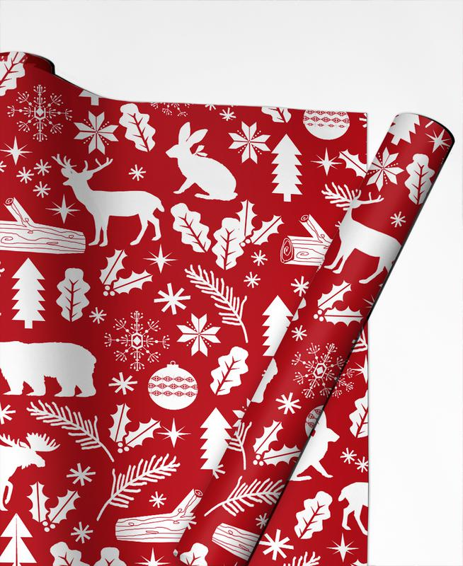 Christmas Woodland Gift Wrap