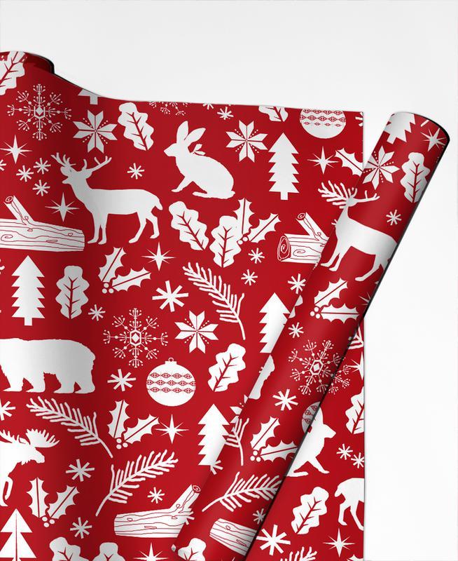 Christmas, Christmas Woodland Gift Wrap