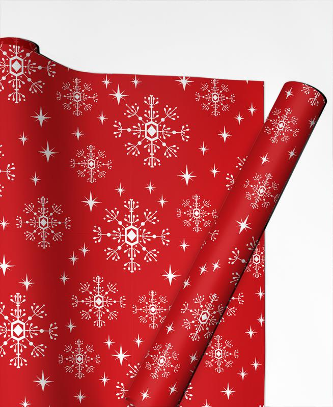 Noël, Snowflake papier cadeau