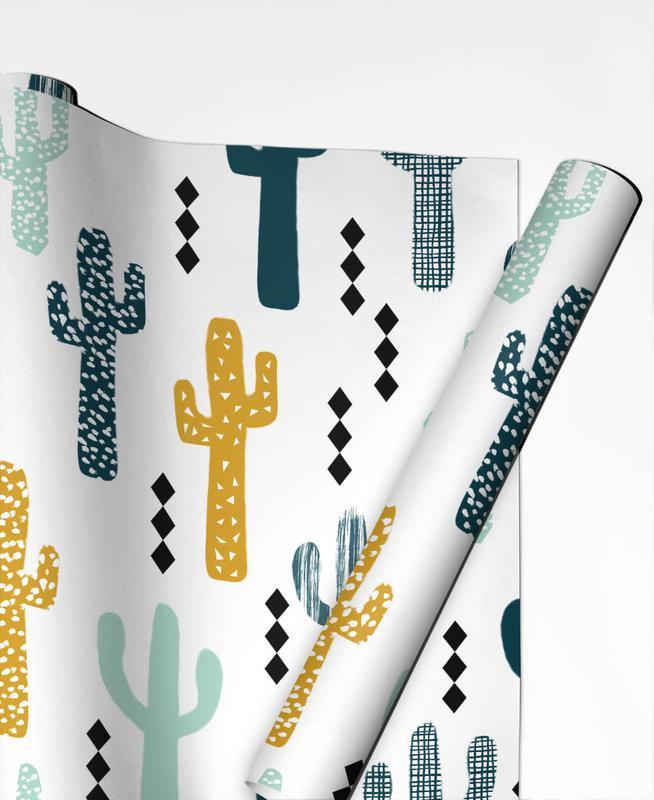 Cactus Mustard Gift Wrap