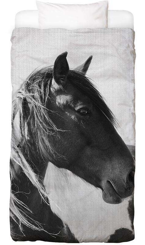Chevaux, Noir & blanc, Print 181 housse de couette enfant