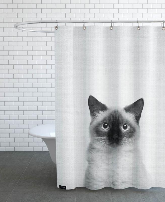 Noir & blanc, Art pour enfants, Chats, Print 71 rideau de douche