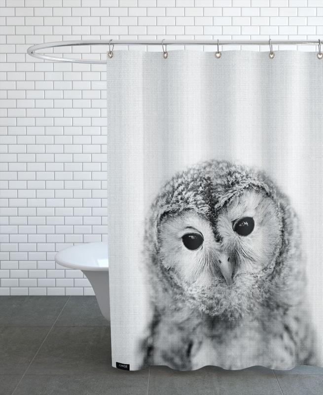 Owls, Black & White, Nursery & Art for Kids, Print 282 Shower Curtain