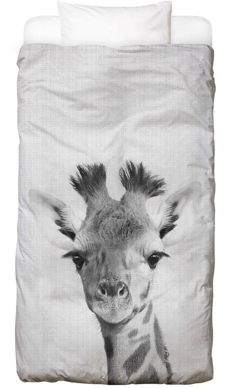 Girafes, Art pour enfants, Noir & blanc, Print 40 housse de couette enfant