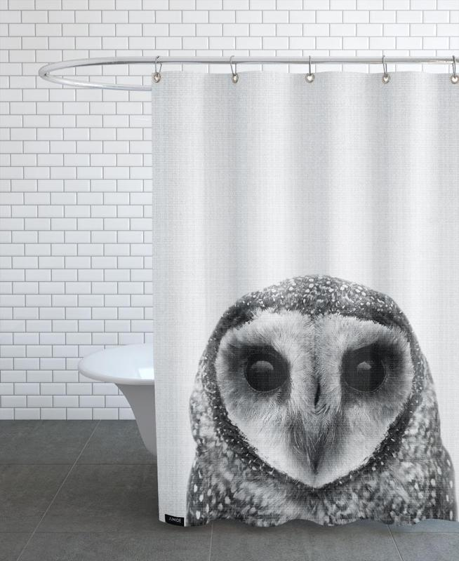 Noir & blanc, Art pour enfants, Chouettes, Print 40 rideau de douche
