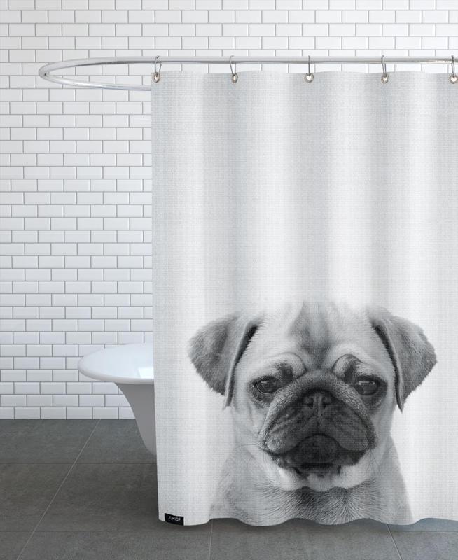 Noir & blanc, Art pour enfants, Chiens, Print 44 rideau de douche